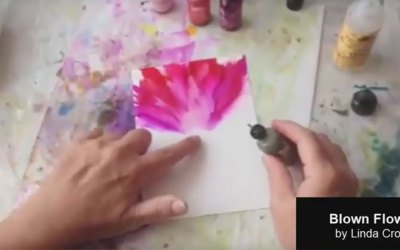 Painting a Blown Flower with Alcohol Ink