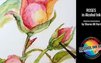 Roses – Painting with Alcohol Ink