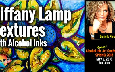 Tiffany Lamp Textures with Alcohol Inks