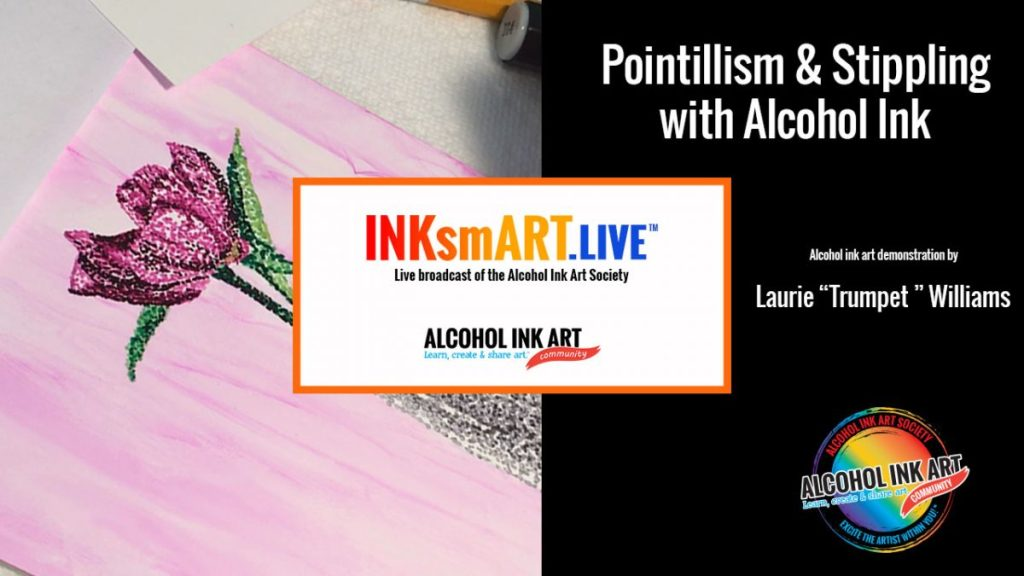 Pointillism with Alcohol Ink