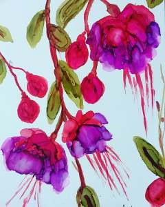 Show Your Bloomers #aiJune18 Alcohol Ink Art Challenge