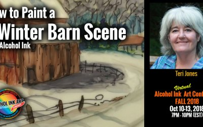 How to Paint a Winter Barn Scene