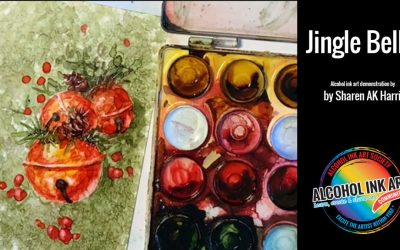 Jingle Bells Alcohol Ink Demonstration