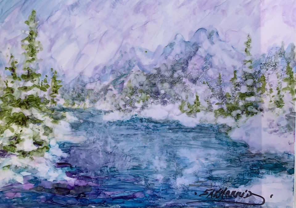 Alaska Winter Mountain Scene