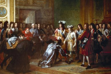 """Rey de Espana por la gracia de Luis XIV"" - Oleo de François Gerard - Siglo XIX"