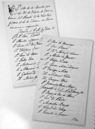 Lista de jesuitas enviados desde Veracruz en Octubre de 1767..