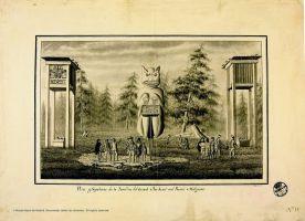 Ilustración durante la expedición de Malaspina.