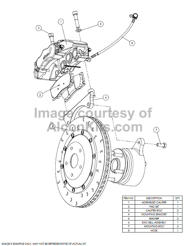 Alcon Brake Kits : Mitsubishi Lancer EVO 7-8-9 (01-07