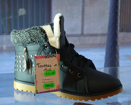 Botas de chica calentita a 10€.