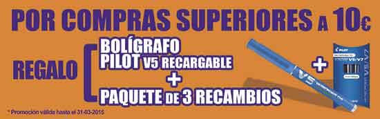 La oferta de Folder Alcorcón en C/ Mayor: por compras superiores a 10€ regalo de bolígrafo + paquete de 3 recambios, hasta el 31/3/15.