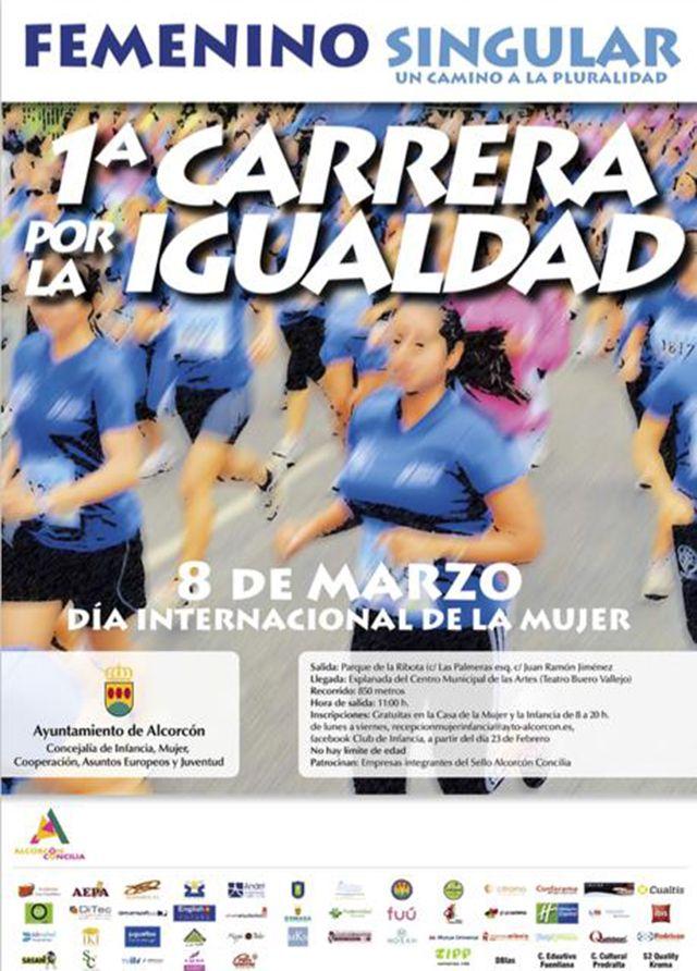 Celebramos la 1ª carrera por la igualdad Alcorcón.