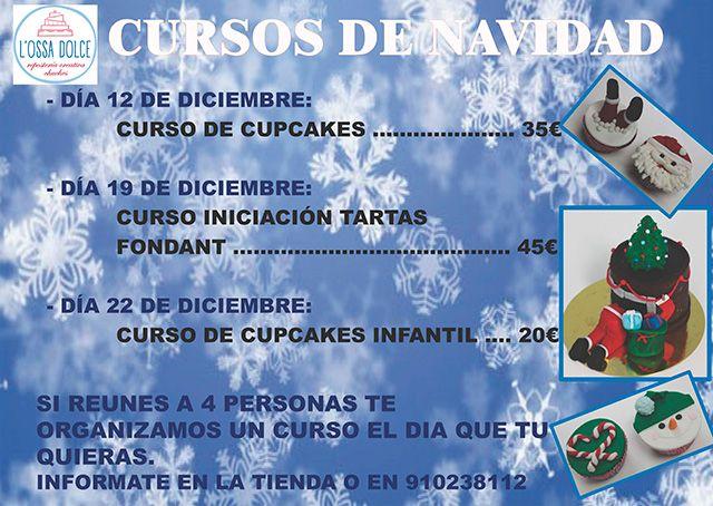 Cursos de repostería creativa Alcorcón para que conviertas estas navidades en únicas.