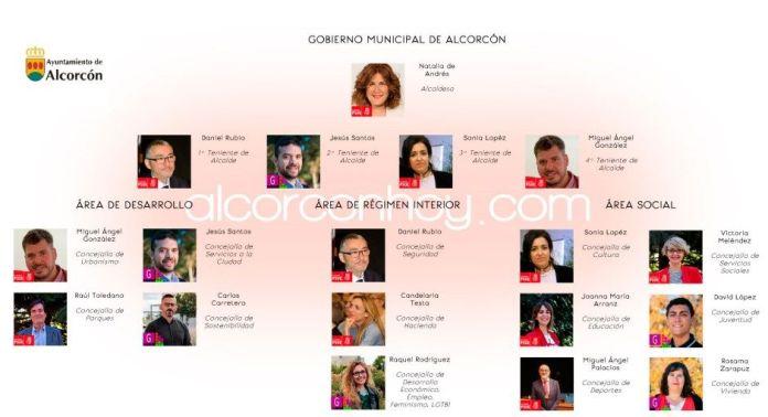 Así es el nuevo gobierno municipal de Alcorcón
