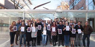 Concejales de Podemos en la Asamblea de Madrid por la gestión de los residuos