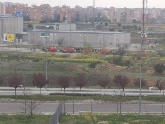 Despliegue de la UME en Alcorcón