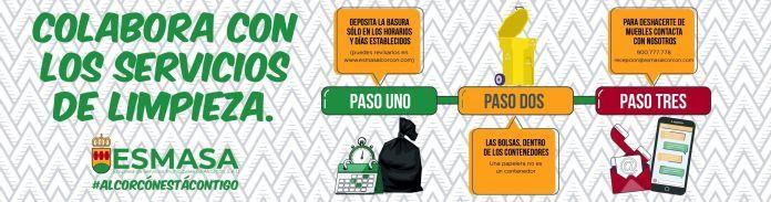 Si en Alcorcón la basura no entra en el cubo, a ESMASA le dificultamos la desinfección