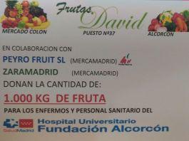 Frutas David dona 1.000 kilos de fruta al Hospital Fundación Alcorcón