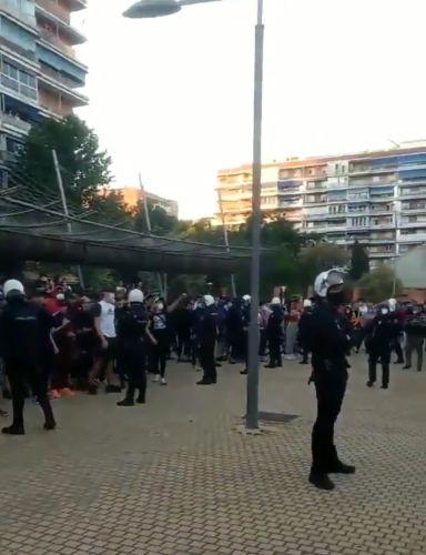 Momentos de máxima tensión en las caceroladas de Alcorcón