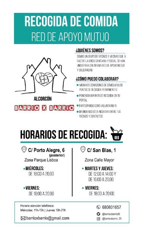 Solidaridad Barrio x Barrio en Alcorcón
