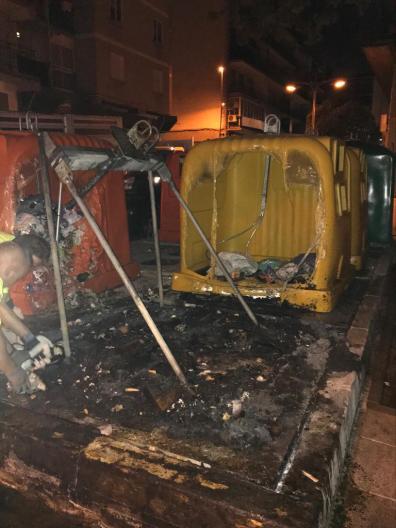 Cuatro incendios de contenedores en Alcorcón