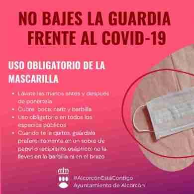 Diez denuncias por no usar mascarillas en Alcorcón