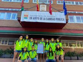 El AD Alcorcón FSF fue recibido por el Gobierno de la ciudad