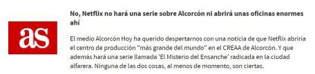 Los grandes medios incluyen la llegada de Netflix a Alcorcón entre las mejores inocentadas del año