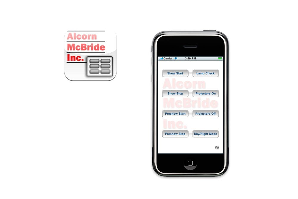 Complete Touch Panel Interface for IOS from Alcorn McBride