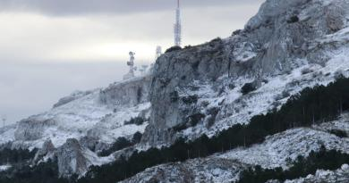 first scnow of the season in alicante province