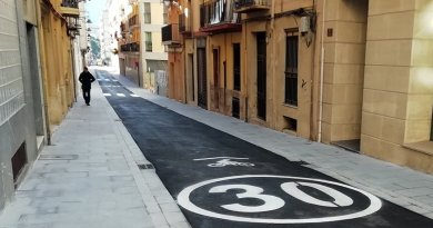alcoy street reopens without parking