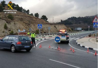 Traffic In And Out Of Alcoy Reduced Due To COVID-19 Restrictions