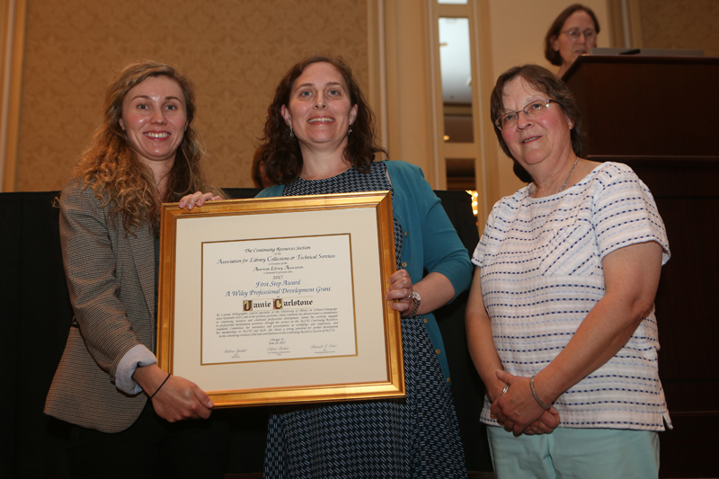 First Step Award, a Wiley Professional Development Grant recipient, sponsor, and presenter