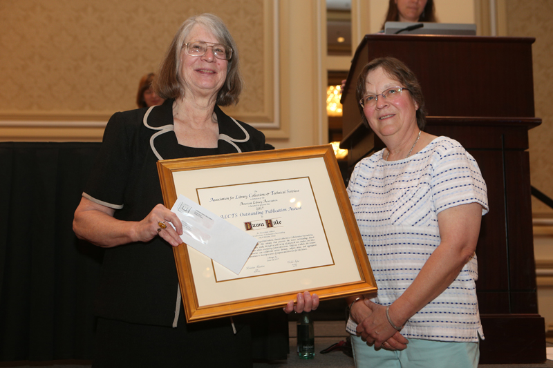 ALCTS Outstanding Publication Award recipient, sponsor, and presenter