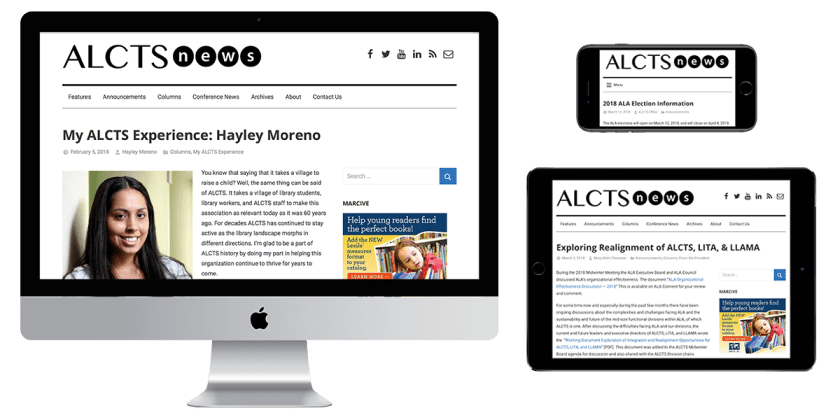 ALCTS News redesign