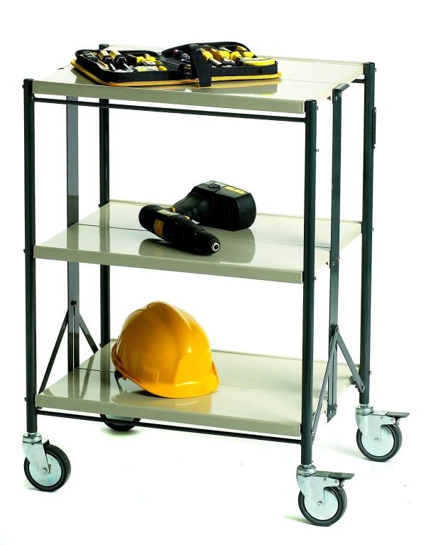 Steel Folding Shelf Trolley