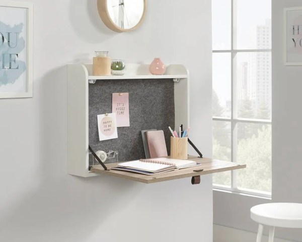 Leather Handled Wall Desk