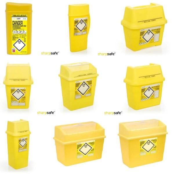 Yellow Sharps Disposal Bin