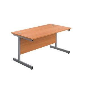 Single Upright Rectangular Desk