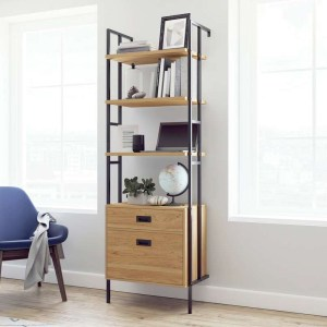 4 Shelf Bookcase with Drawers