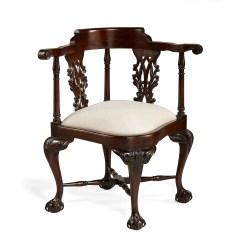 Wooden Corner Chair Wicker Repair Chippendale Alden Parkes