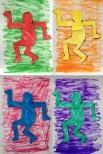 Keith Haring/Andy Warhol study