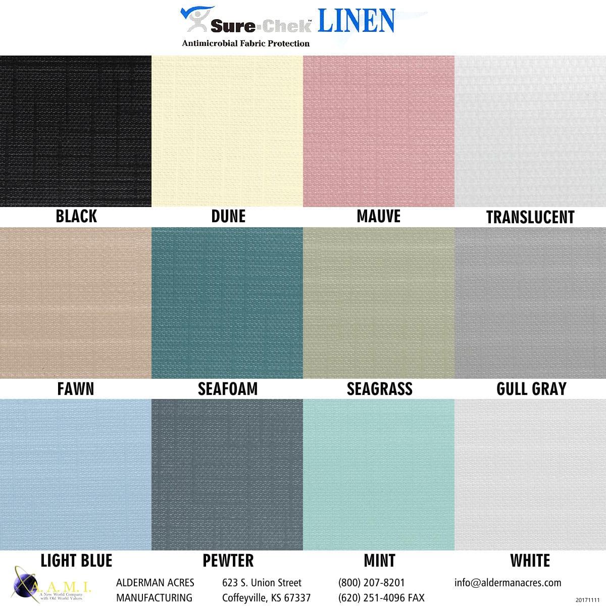 Sure Chek Linen Shower Curtains Alderman Acres Manufacturing