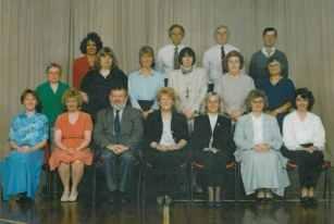 School staff 1998 - Headteacher Mrs R. Redpath.