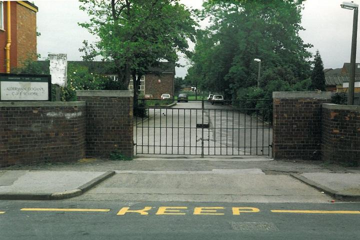 School entrance 1992.