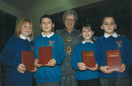 Millennium Bibles presented by Councillor B. Ware 2000.