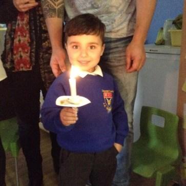 Our Nursery Christingle celebration