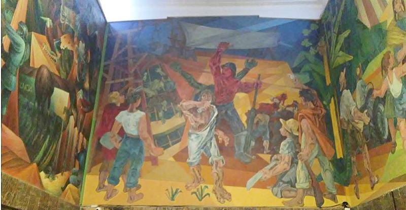 Mural de la Revolución Nacional de Bolivia, 2018. Autor: Issagahan