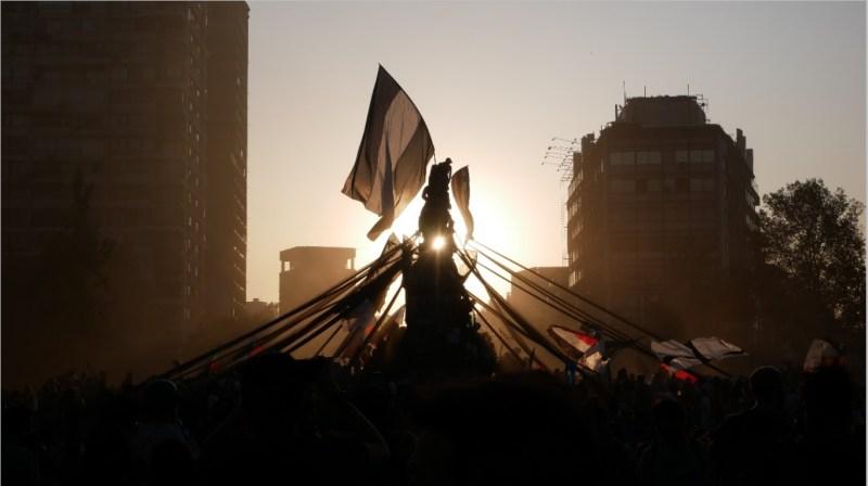 Protestas en Santiago de Chile, 31 de enero de 2020. Autora. Davinia Pérez
