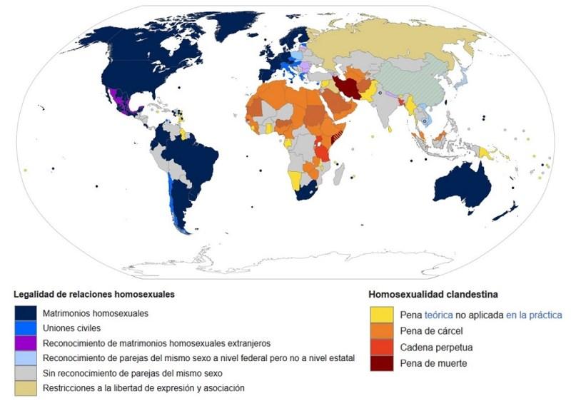 Leyes sobre homosexualidad.
