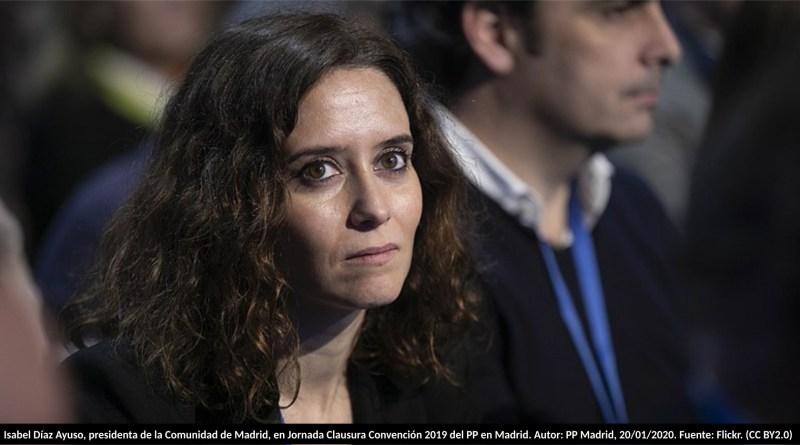 Isabel Díaz Ayuso, presidenta de la Comunidad de Madrid, en Jornada Clausura Convención 2019 del PP en Madrid. Autor: PP Madrid, 20/01/2020. Fuente: Flickr. (CC BY2.0